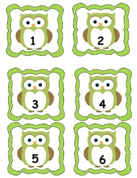 Owl Table Numbers 1-6