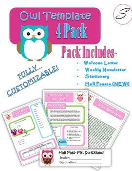 Owl Template 4 Pack (NEW!)