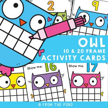 Owl Ten Frame Activity Cards
