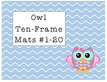 Owl Ten-Frame Mats Numbers 1-20