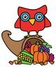 Owl Thanksgiving Clipart