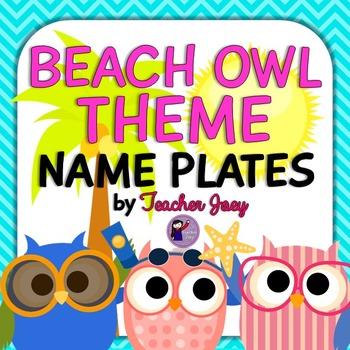 Owl Theme Name Plates