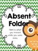 Owl Theme Absent Folders {Editable}
