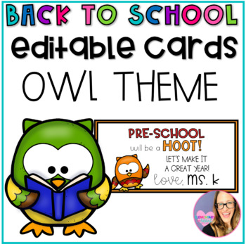 Owl Themed Back to School Gift Tags