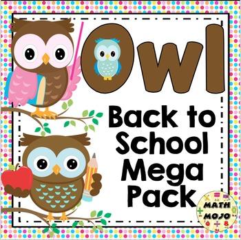 Back to School - Owl Theme