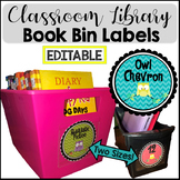Owl Labels EDITABLE Book Bin Labels for Classroom Library