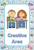Owl Theme Classroom Area Signs
