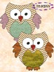 Owls  - Glitter Clipart - Back to School Activity