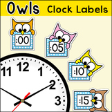 Owl Theme Telling Time Clock Labels - Back to School Decor