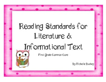 Owl Theme Common Core Reading Literature and Informational