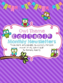 Owl Theme Editable Newsletter Templates