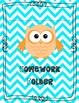 Owl Theme Homework Folder Cover {Customizable}