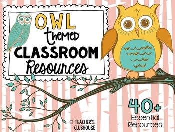 Owl Theme Decor Pack