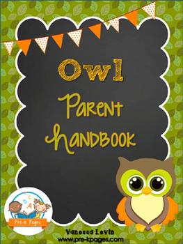 Owl Theme Parent Handbook ~ Printable ~ Back-to-School {pe