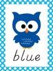 Owl Theme Polka Dot Color Posters - Modern Manuscript