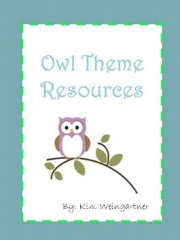 Owl Theme Resources