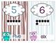 Owl Theme Shape, Color, & Numbers w/ ten frames Colors Pos