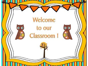 Owl Theme Welcome Poster