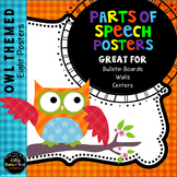 Parts of Speech Posters: Owl Theme