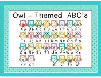 Owl Themed ABC