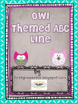 Owl Themed ABC line