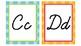 Owl Themed Alphabet Set in Cursive