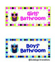 Owl Themed Bathroom Signs