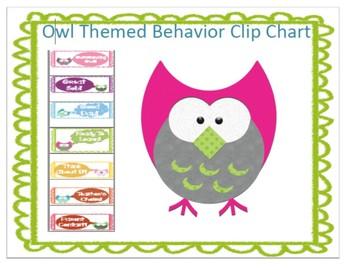 Owl Themed Behavior Clip Chart :)