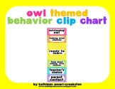 Owl Themed Behavior Clip Chart