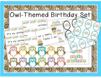 Owl Themed Birthday Set