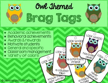 Owl-Themed Brag Tags