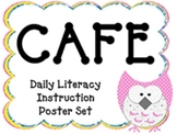 Owl Themed CAFE Poster Set with Definitions! Now in DJ Chu