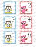 Owl Themed Calendar Cards - August