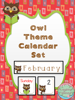 Owl Themed Calendar Set