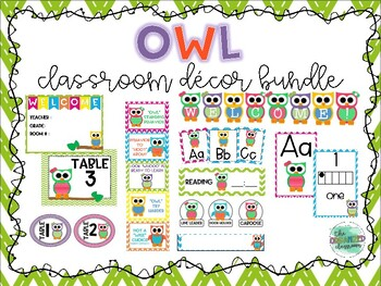 Owl Themed Classroom Decor Bundle