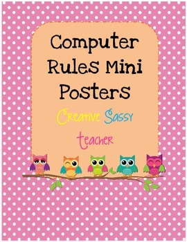 Owl Themed Computer Rules Posters