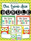 Owl Themed Decor Bundle [with a chevron background]