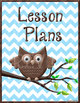 Owl-Themed Grades & Lesson Plans Book Covers