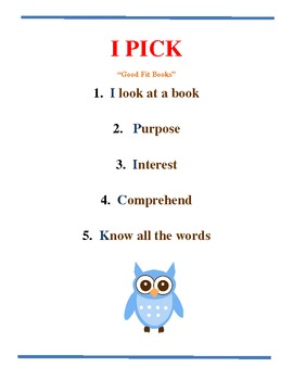 Owl Themed I Pick Poster