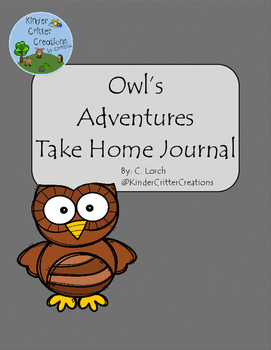 Owl Themed Journal - Take Home Friend