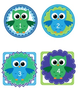 Owl Themed Labels