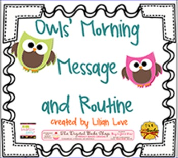 Owl Themed Morning Message and Routine SMART Board!