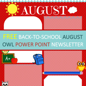 Owl Theme - Newsletters - Monthly Themed - August - Back T