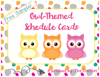 Owl-Themed Schedule Cards Sample (FREEBIE)