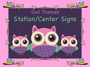 Owl Themed Station/Center Signs Whoooo Goes Where!?! Great