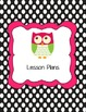 Owl Themed Teacher Binder Cover and Tabs