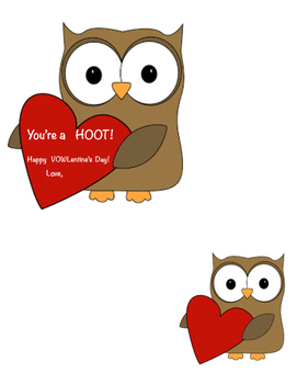 Owl Themed V-Day greeting to students