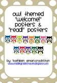 """Owl Themed """"Welcome!"""" and """"Read!"""" Posters"""