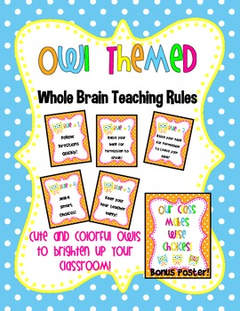 Owl Themed Whole Brain Teaching Rules!