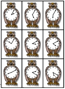 Owl Time:  telling time activity set